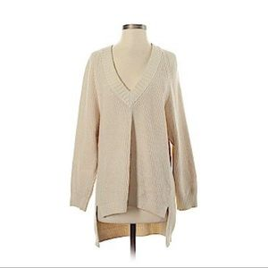 Express Pullover Sweater Ivory/Tan Size XS